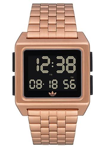adidas Relojes Hombre Archive_M1. 70 Es El Estilo De Acero Inoxidable Reloj Digital Con 5 Pulsera (0,36 Mm) Azul Marino/Negro / Plata/Rojo: Amazon.es: Ropa ...