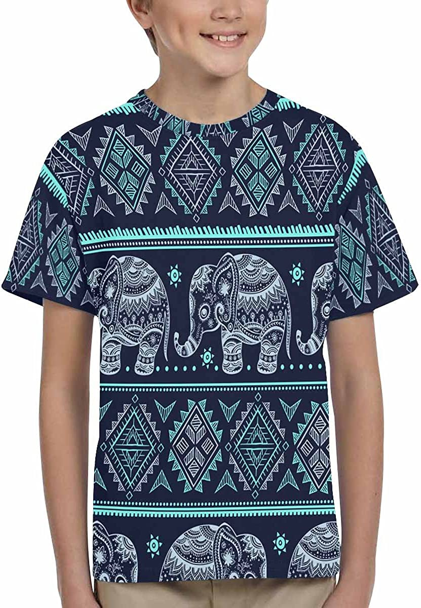 XS-XL INTERESTPRINT Ethnic Vintage Elephant Childs T-Shirt