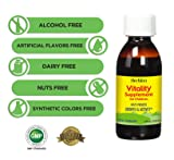 Herbion Naturals Vitality Supplement for Children - Tasty Energy Booster, Promotes Growth, Appetite, Relieves Fatigue, Improves Mental and Physical Performance, 5 fl oz