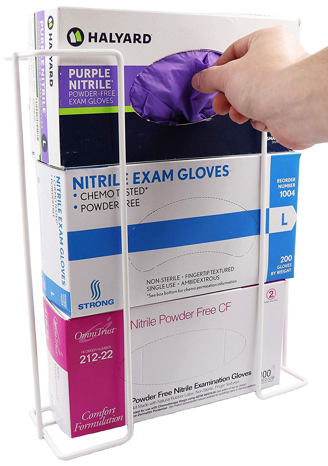 Triple Wire Glove Box Dispenser Horizontal (Holds 3 Boxes)