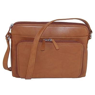 22dbb642c174 CTM Women s Leather Shoulder Bag Purse with Side Organizer