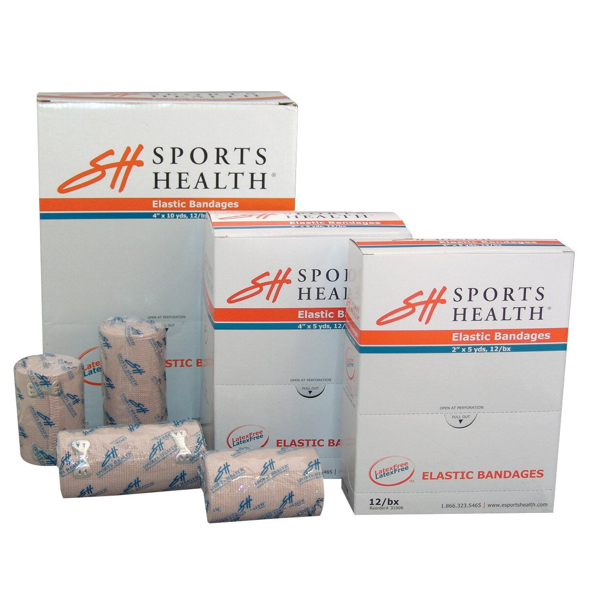 Sports Health Pre-Wrap Bandage with Aluminum Fasteners, 4 in X 5 yd, Elastic
