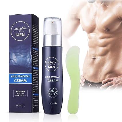 Luckyfine Crema Depilatoria para Hombres, Crema de Depilación para Areas Sensibles, Suave y No Irritante, 100g