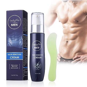 Luckyfine Crema Depilatoria para Hombres, Crema de Depilación para ...