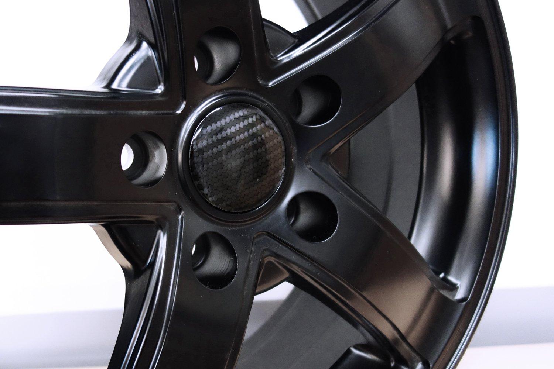 Hightech-Folie mit sichtbarer Struktur 910032 Carbon Schwarz Nabenkappen 3D Felgendeckel Radnabendeckel 50 mm