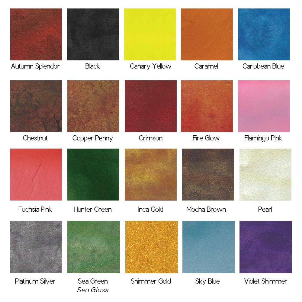 Metallic Mica Pigment Testers (All 20 Colors) by U-Epoxy-It Metallic Epoxy