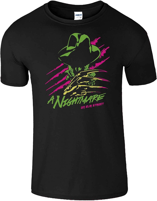 Freddy Krueger Halloween T-Shirt Neon Style Print Costume Party Fancy Dress Top
