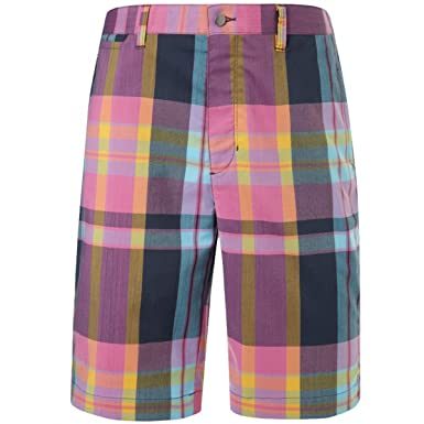 Callaway Golf Mens X Series Multicast Plaid Shorts Midnight Navy