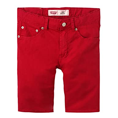 b92d051fc5366 Levi's Boys Red, 510 Skinny Fit Bermuda Shorts (12 Years): Amazon.co ...
