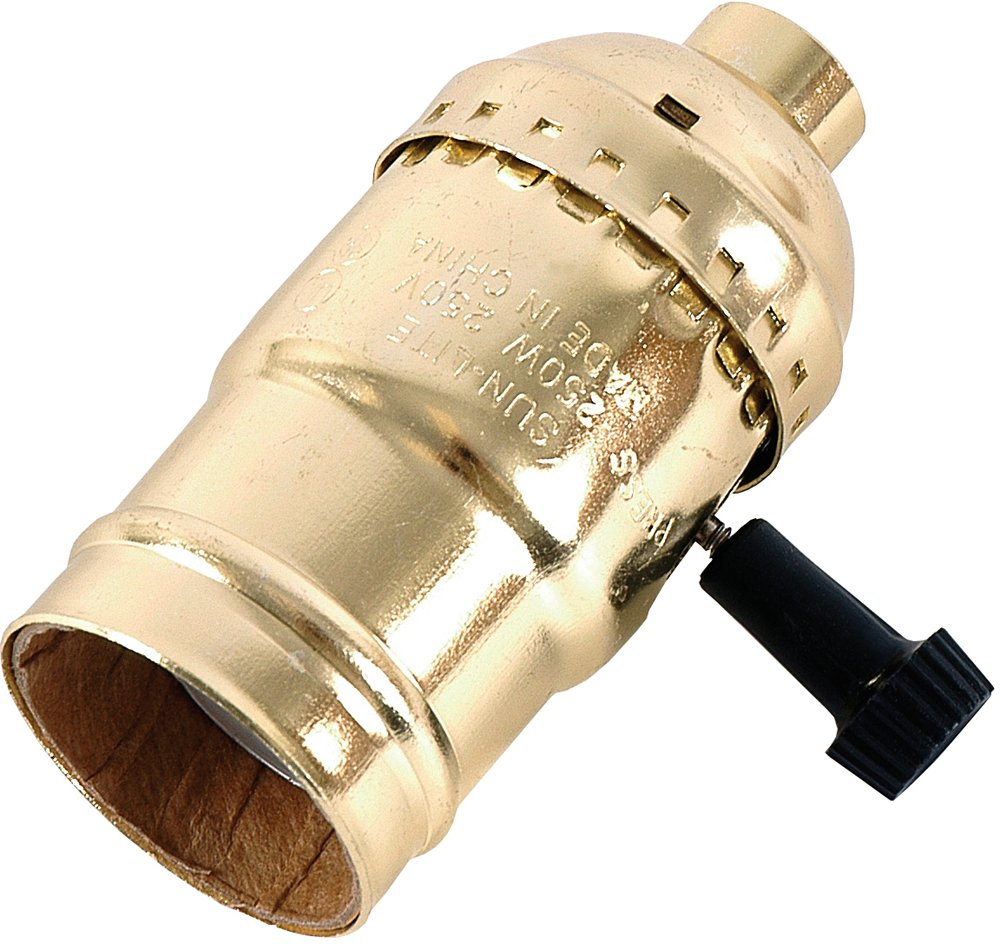 GE 3-Way Lamp Socket, Gold 54372 - Light Sockets - Amazon.com