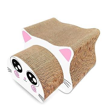 Leopardo Corrugado Gato Juguete Gato Cabeza Forma Gato Arañazo Junta Garra Pinza Pet Suministros Multi-Pieza Combinación: Amazon.es: Productos para mascotas