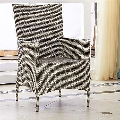QQXX Silla de Mimbre para Muebles de Exterior, café de ratán, casa ...