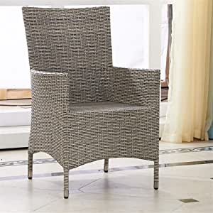 QQXX Silla de Mimbre para Muebles de Exterior, café de ratán, casa Club, sillón de jardín para Exteriores, Mesa y sillas de Comedor de ratán Muebles para el hogar (tamaño: 61x61x94cm): Amazon.es: