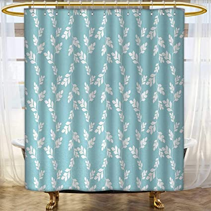 Anhounine Rustic Fabric Shower Curtains Rural Meadow Field Yard Wildflowers Farmhouse Style Cottage Countryside Garden Satin