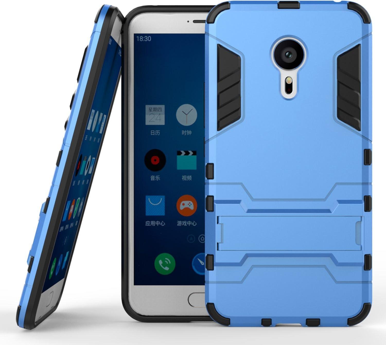 Guran Funda para Meizu MX5 (5.5 Pulgada) cáscara del teléfono Manguito Protector bicapa Mixto Resistente a los Golpes Anti-Deslizamiento TPU+PC (Azul): Amazon.es: Electrónica