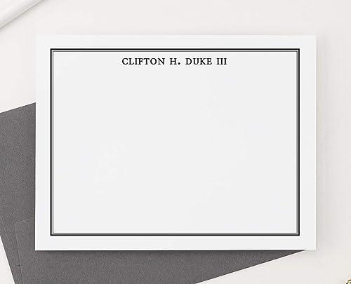 Custom Stationary For Men Mens Stationary Set Thank You Note Cards