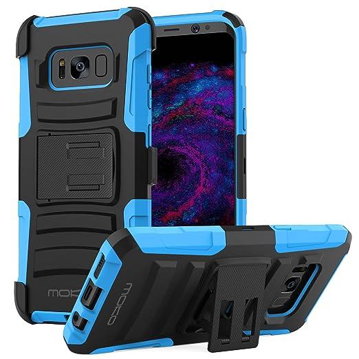 8 opinioni per MoKo Samsung Galaxy S8 Case- Cover Holster con Supporto Integrato di Cavalletto,