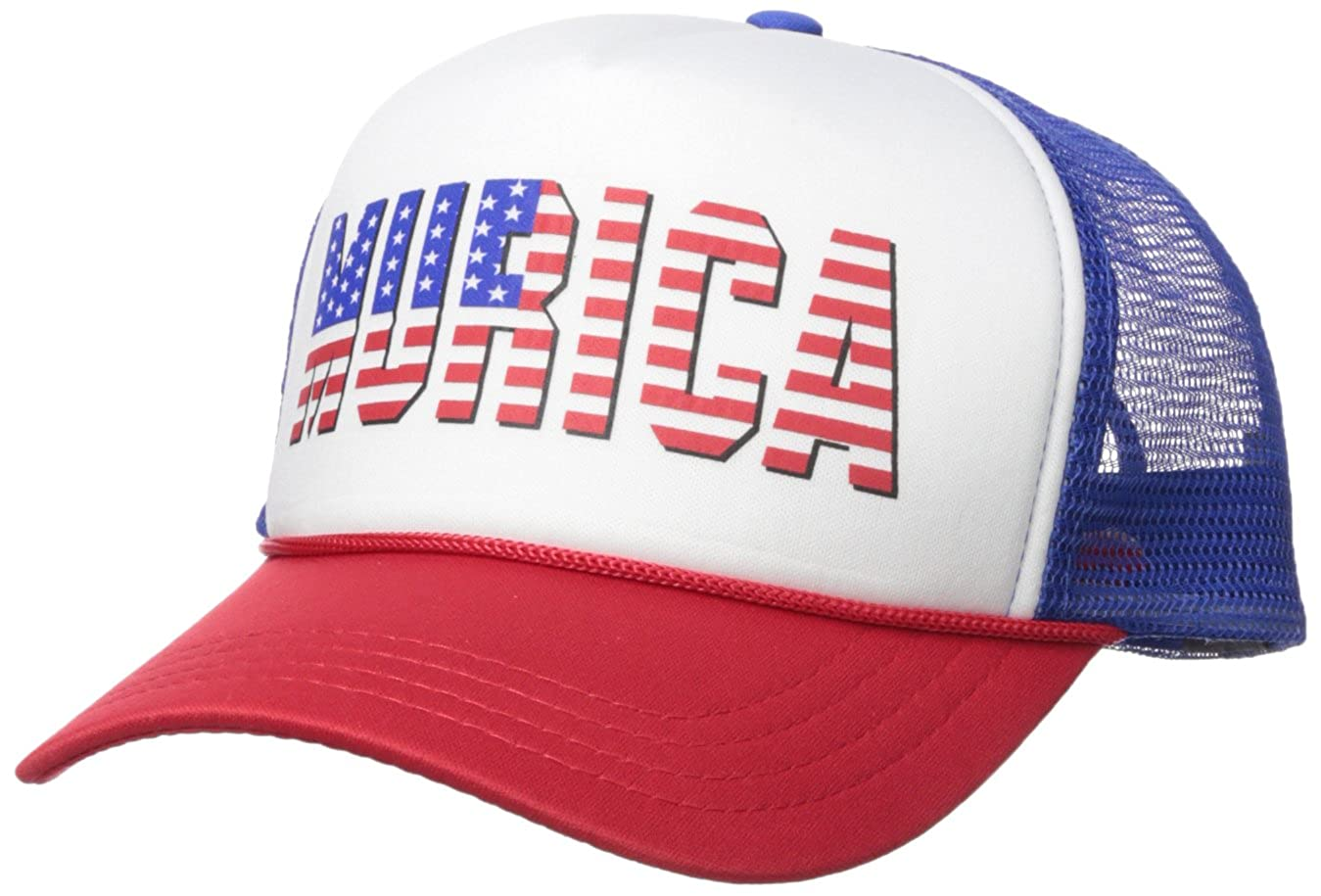 ce4e8c72399 MURICA FOURTH OF JULY USA - 4th america patriot Mesh Trucker Cap Hat ...