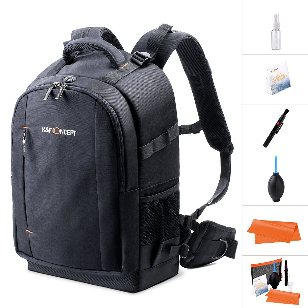 K& F Concept Camera Backpack Rucksack Waterproof with Rain Cover for 13.3'' laptop for Men/Women DSLR Camera Accessories Cleaning Kit Memory Card for Canon Nikon Shenzhen Zhuoer Photograph KF13.025