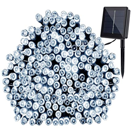 gdealer solar string lights 72ft 200 led 2 modes white solar powered waterproof starry fairy outdoor