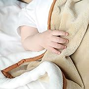 Spring New HOT Sale - All-Season Flannel Fleece Baby Blanket, Ultra Soft Plush Blanket for Crib/Toddler Bed, Receiving Blanket for Girl or Boy (30  X 40 , Camel Fox) by Designthology