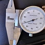 Metrica 10023 Calibro a Quadrante 0-150 mm 1//100