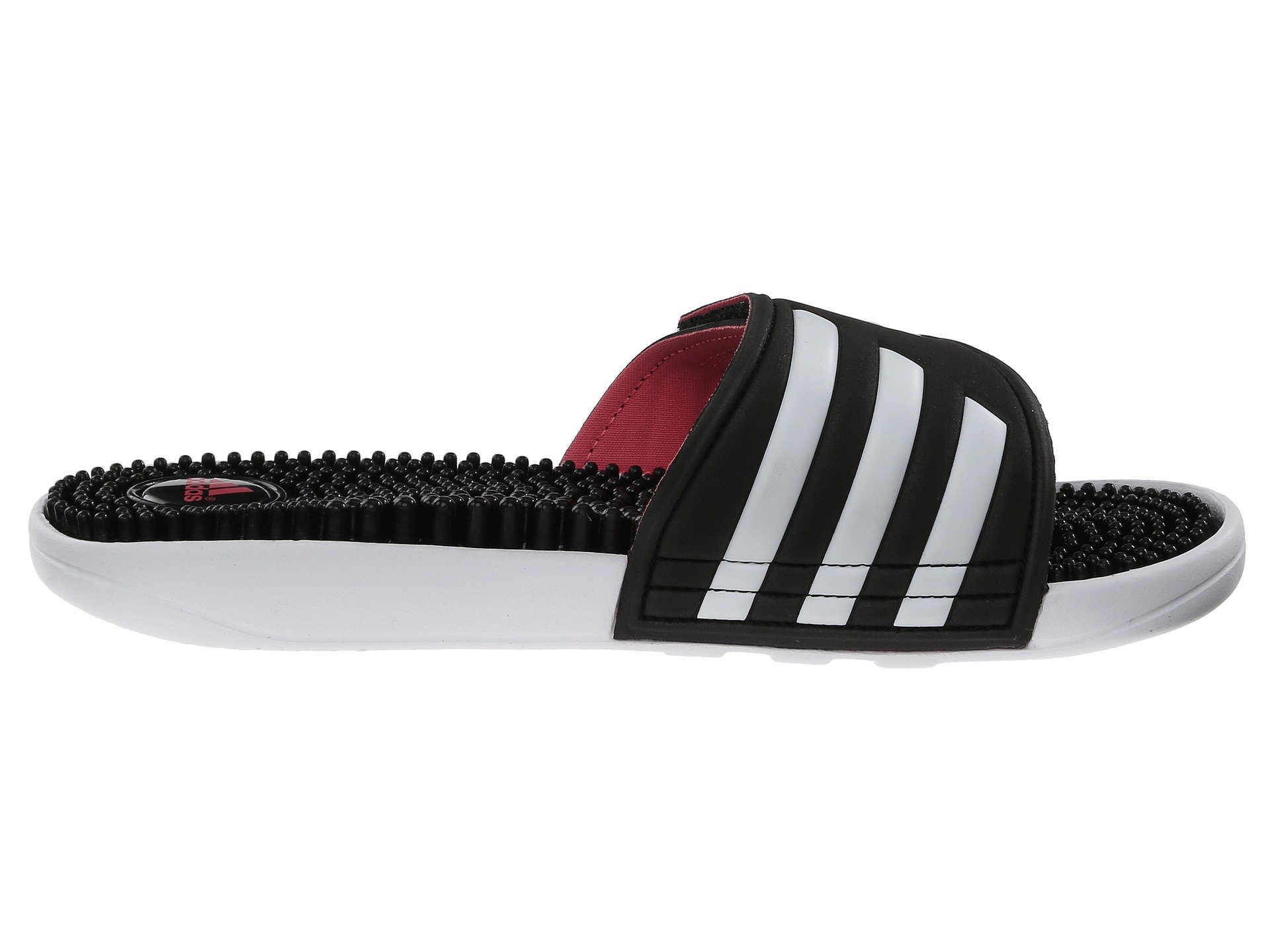 f65db0a0c7 Galleon - Adidas Women's Adissage Black/White/Super Pink 13 B US