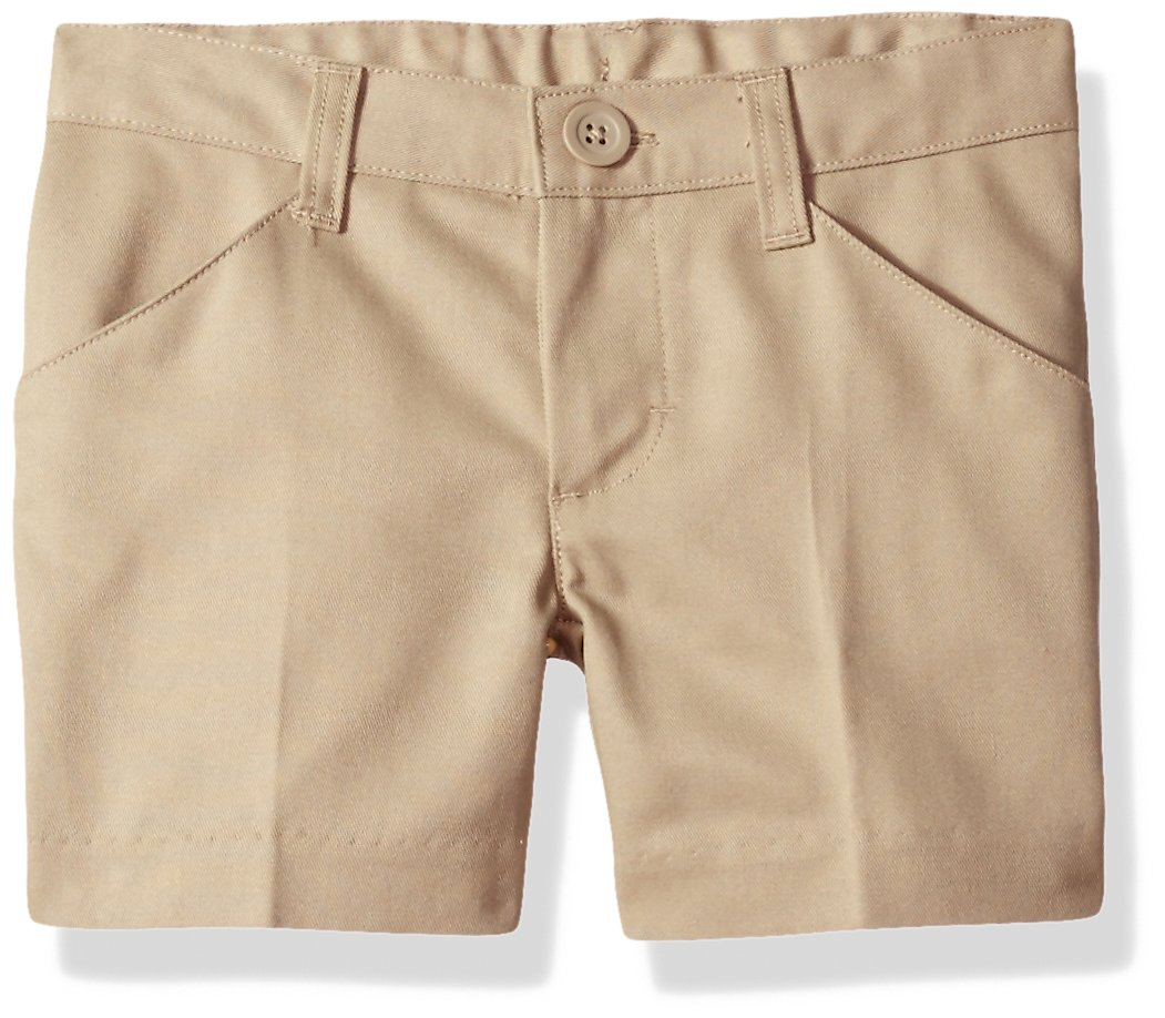Classroom Uniforms Little Girls' Flat Front Low Rise Short, Khaki, 6 by Classroom Uniforms