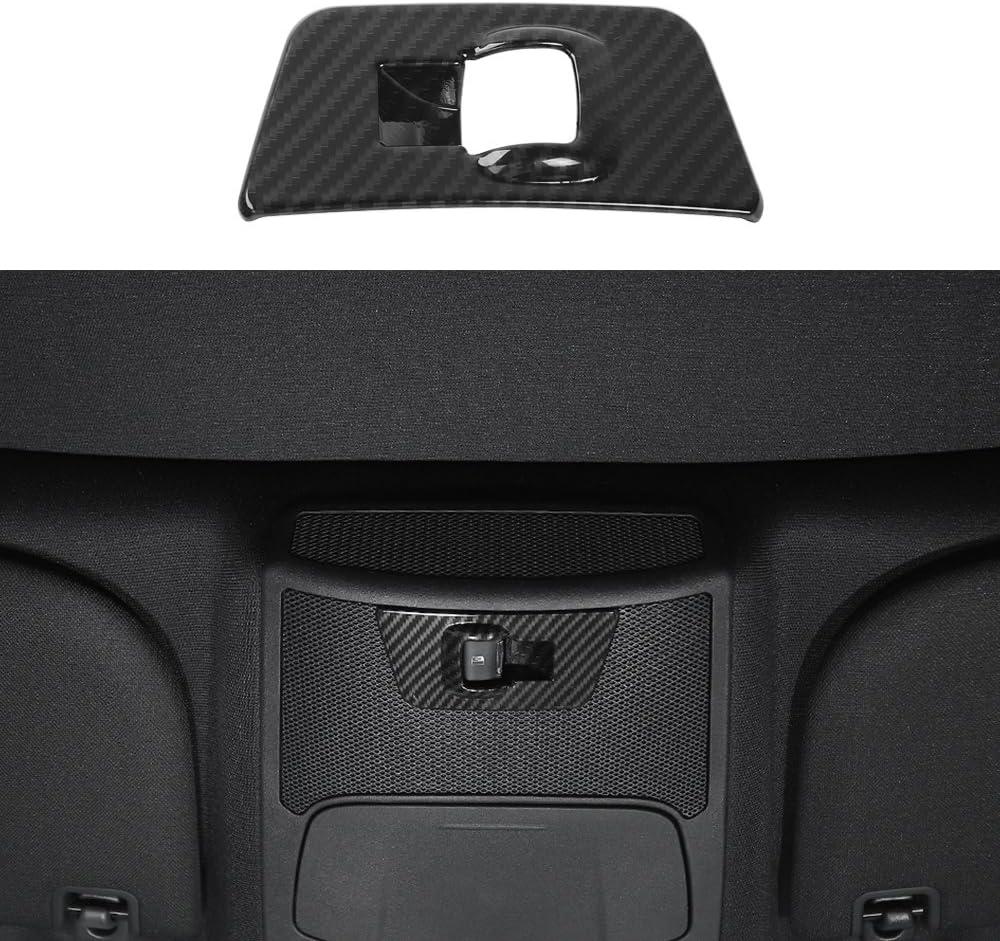 Voodonala Carbon Fiber Grain Door Lock Password Button Pillar Post Keypad Trim for Ford F150 2014-2017