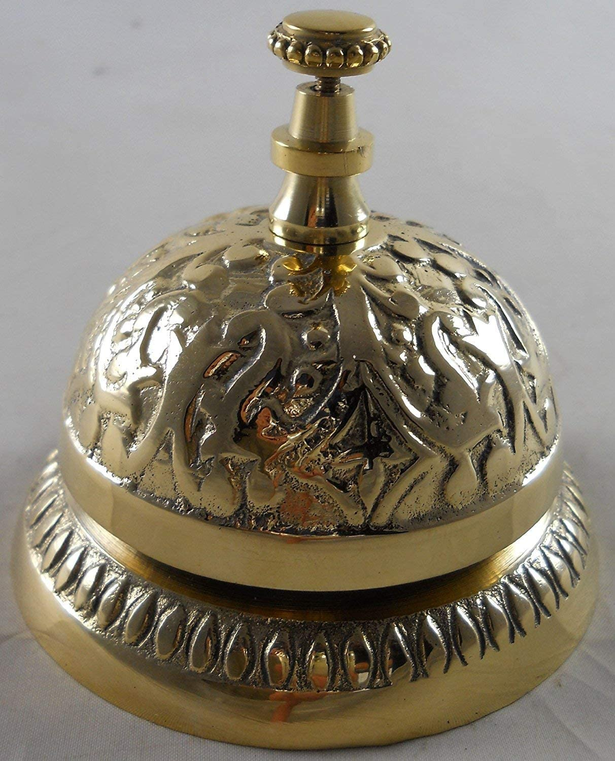 MGSIO Solid Brass Victorian Style Service Desk Bell