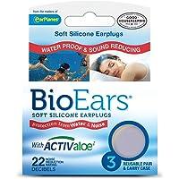 Bio Ears Soft Silicone EarPlugs Protection - 3 Pairs