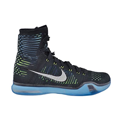 new style 114a7 3d337 Nike Kobe X Elite Men s Shoes Black Metallic Silver-Blue Light Green Volt  718763