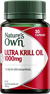 Nature's Own Ultra Krill Oil 1000mg - Source of Omega - 3 - Maintains Joint Health - Antioxidant, 30 Capsules