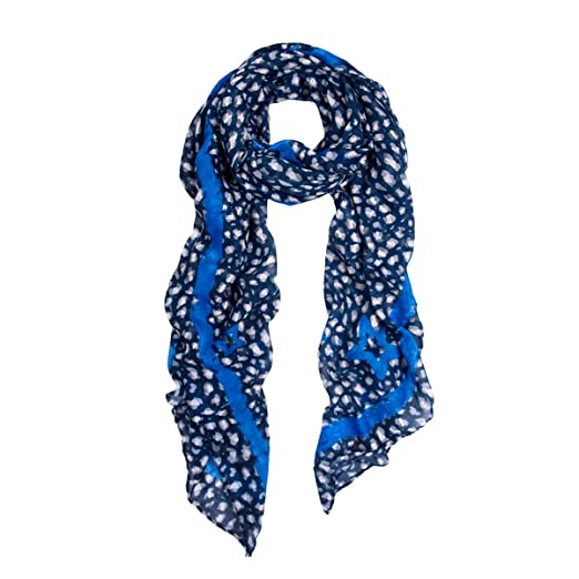 b91903003 Elegant Spot Leopard Animal Print Scarf with Brushed Border, Navy at Amazon  Women's Clothing store: Fashion Scarves