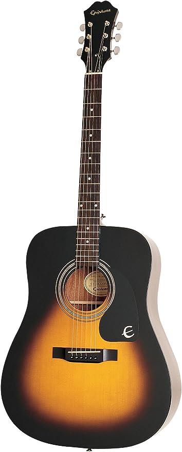 Epiphone DR-100 - Guitarra acústica, color vintage sunburst ...