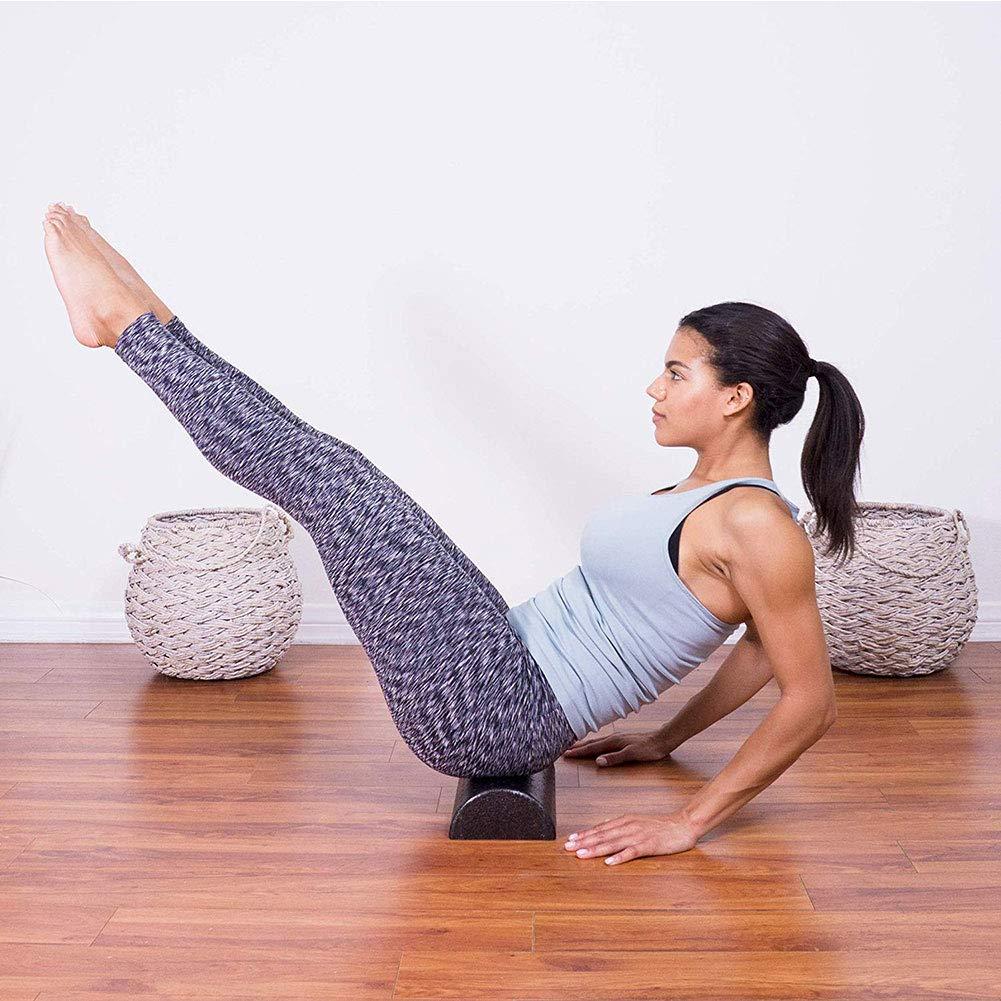 Amazon.com: khkadiwb rodillo de yoga semicircular, rodillo ...
