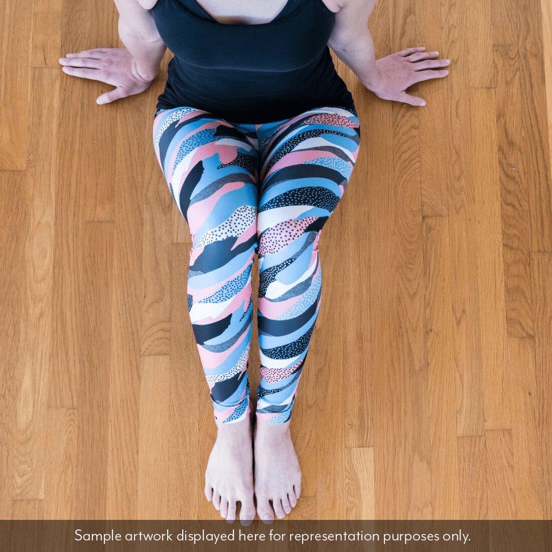 Womens Print Fitness Stretch Montana USA Dizzy Design Studio Montana State America