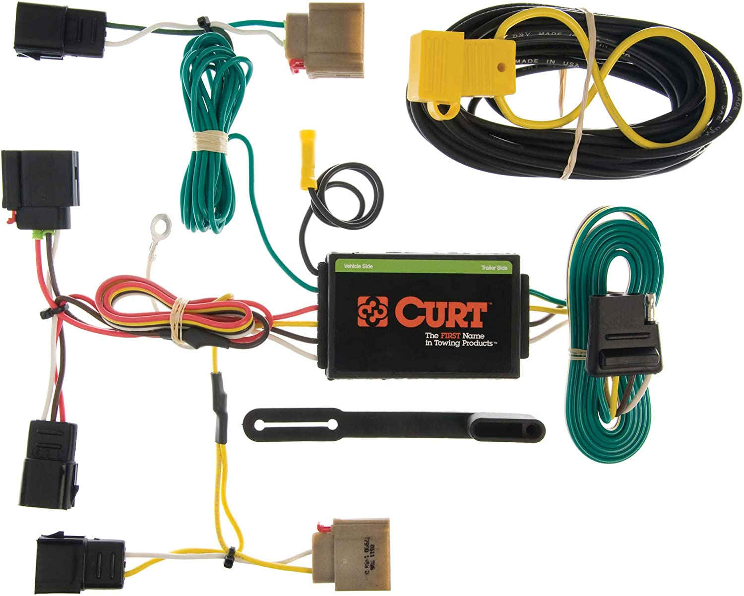 amazon.com: curt 55050 vehicle-side custom 4-pin trailer wiring harness,  select dodge caliber, jeep patriot, compass: automotive  amazon.com