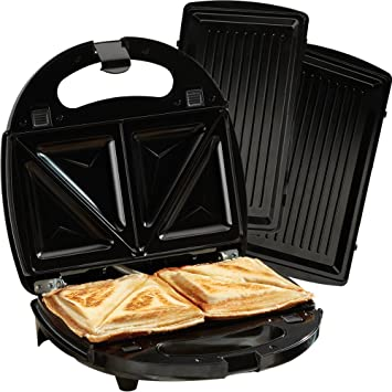 Sandwich Toaster Panini Maker Press Grill 2 in 1 Toastie Iron