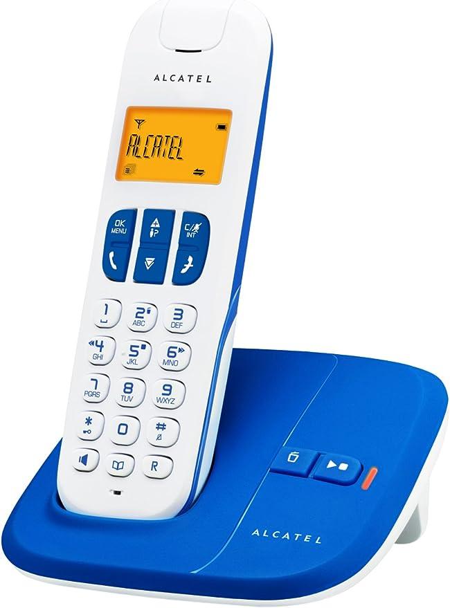 Alcatel Delta 180 Voice - Teléfono inalámbrico (con contestador y pantalla digital), color azul y blanco: Amazon.es: Electrónica