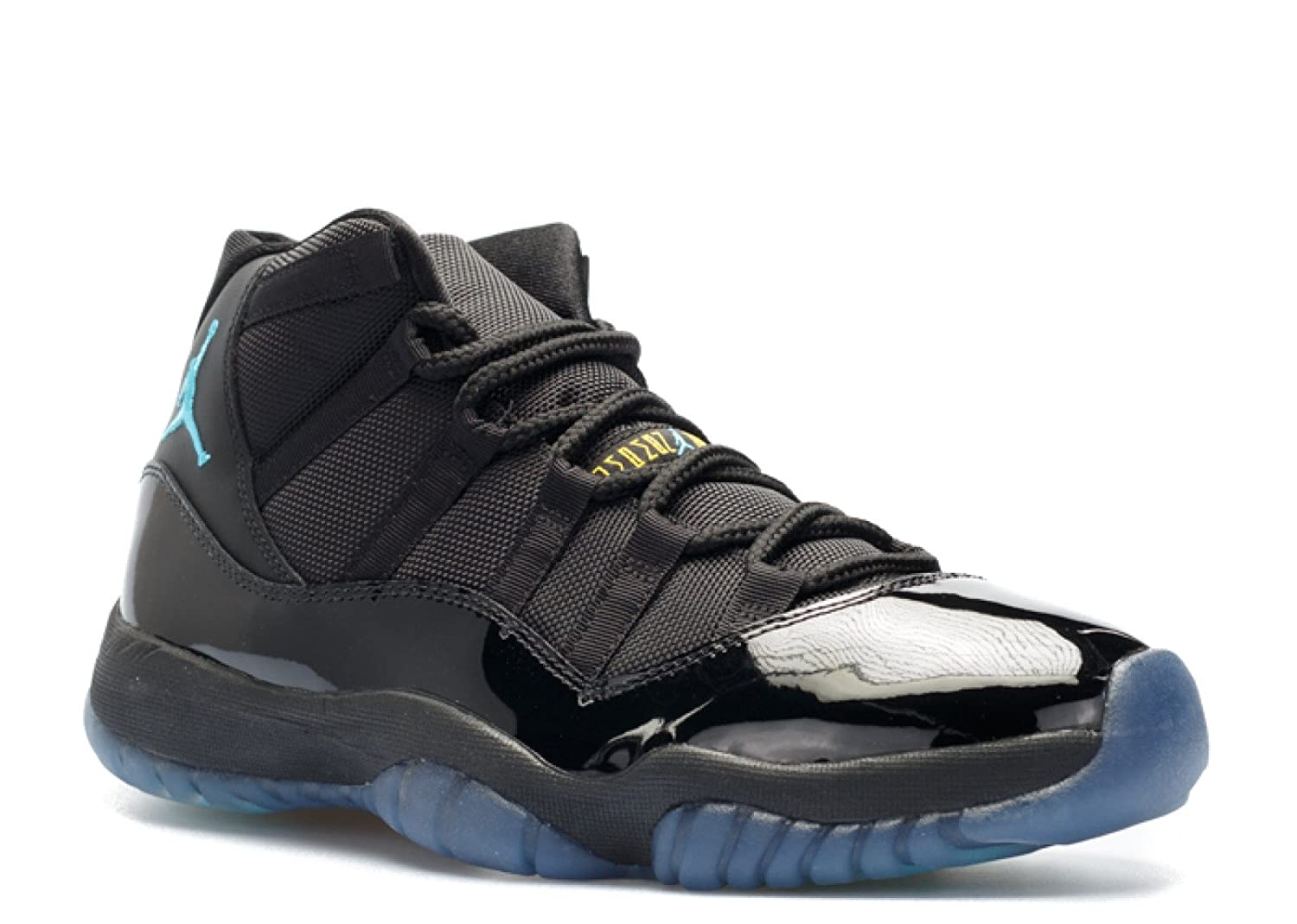 Nike Herren Air Jordan 11 Retro Turnschuhe  9.5|Black, Gamma Blue-varsity Maize