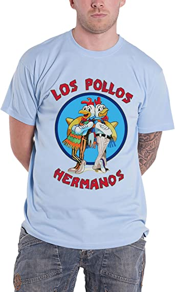Officially Licensed Merchandise Breaking Bad Los Pollos Hermanos T-Shirt (Skyblue): Amazon.es: Ropa y accesorios