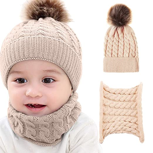 c6b563953 Amazon.com: Lanyan Baby Hat Boys Girls Winter Cotton Lined Toddler ...