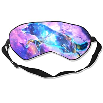 556a4fa31 Amazon.com   Magic Wolf Silk Sleep Mask Soft Eye Mask Blindfold Blocks  Light Eye Cover with Adjustable Strap   Beauty