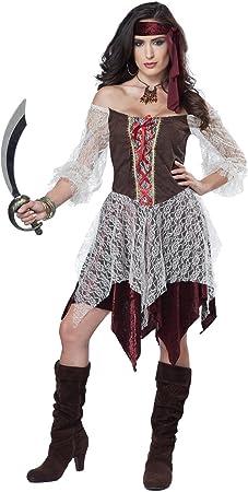 Disfraz Pirata Bucanera sexy mujer - S: Amazon.es: Juguetes y juegos