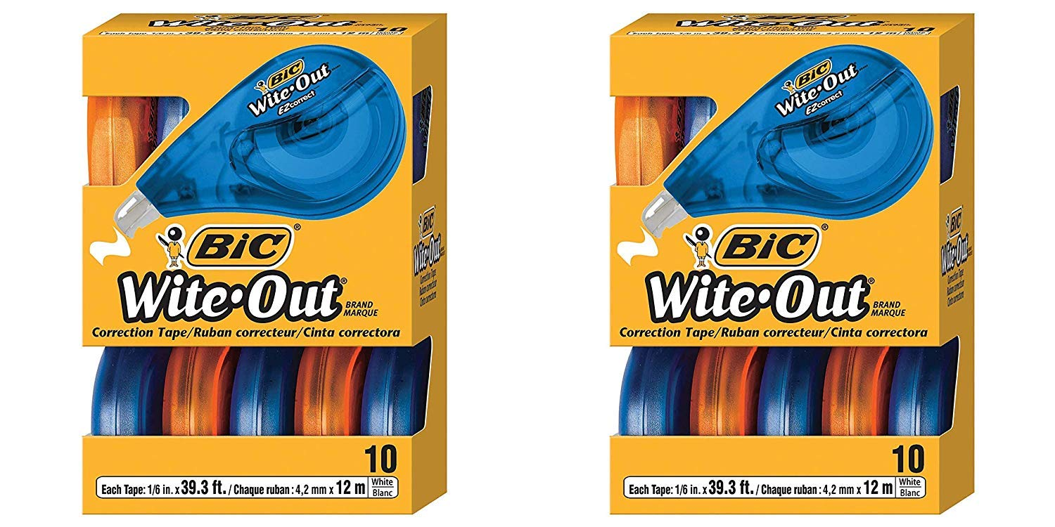 BIC Wite-Out Brand EZ Correct Correction Tape, White, 20-Count by BIC