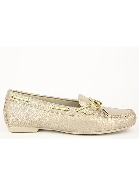 Stonefly MOCASSINO - Mocasines para mujer Dorado Platino 39: Amazon.es: Zapatos y complementos