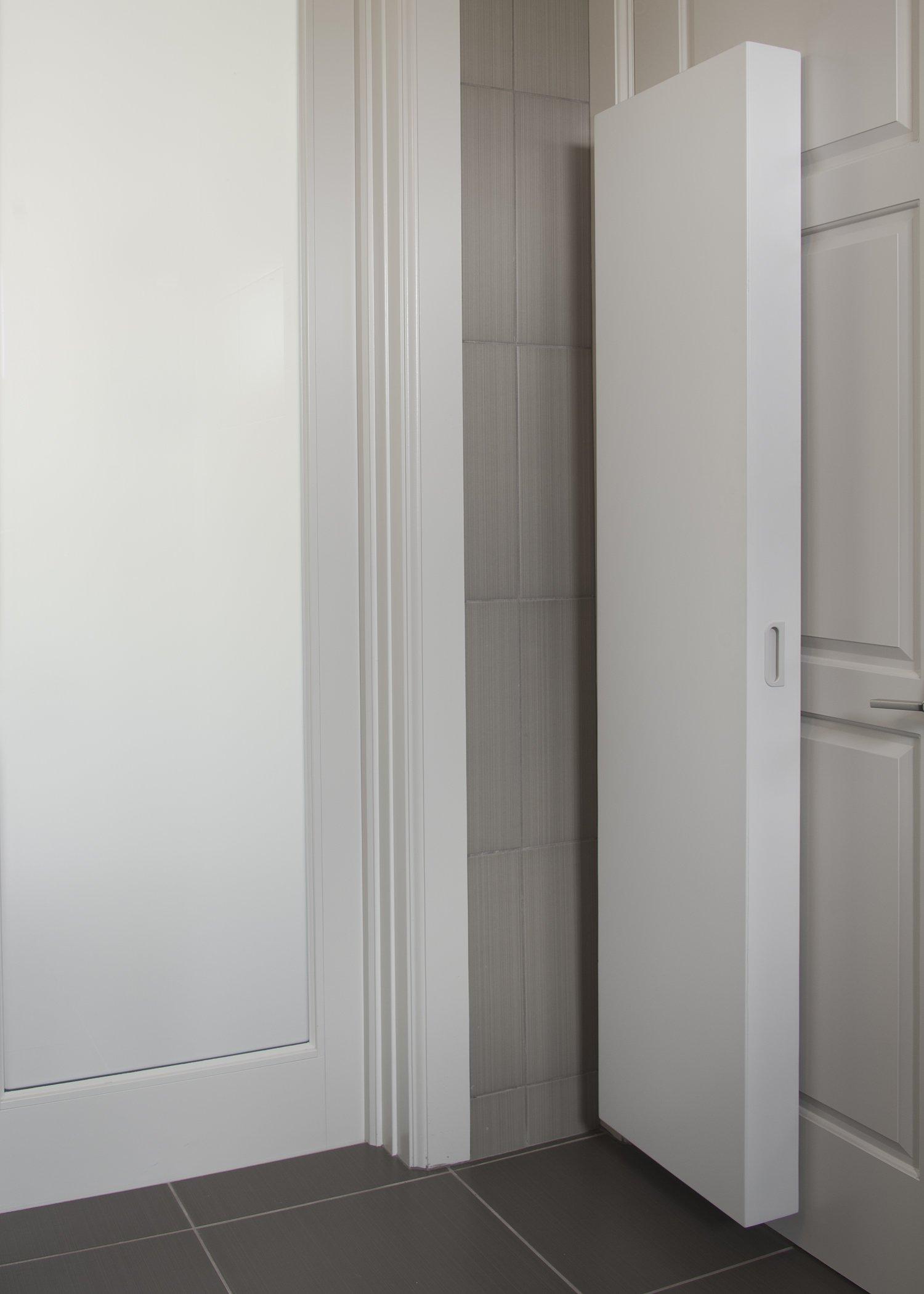 Behind Door Storage Cabinet Slim Small Spaces Organizer