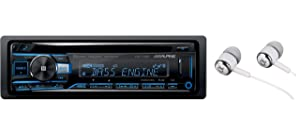 Alpine CDE-175BT Single DIN Bluetooth in-Dash CD Front USB & Auxiliary MP3 ID3 Tag AM/FM SiriusXM Ready Apple iPhone 6/6+ and iOS 8 Car Stereo Receiver, HD Radio Built-in/Free ALPHASONIK Earbuds