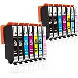 GPC Image 24XL Cartucce d'inchiostro Compatibili per Epson 24 XL per Epson Expression Photo XP-760 XP-55 XP-960 XP-860 XP-950 (4 Nero, 2 Ciano, 2 Magenta, 2 Giallo, 2 Ciano Chiaro, 2 Magenta Chiaro)